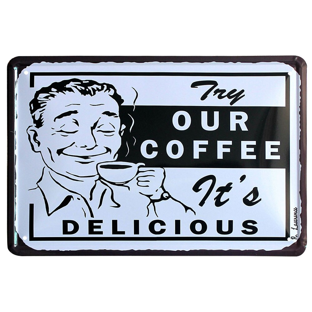 Tin Signs Coffee House Metal Signs Home Kitchen Wall Decor Vintage Signs Plaques Metal Posters Plates