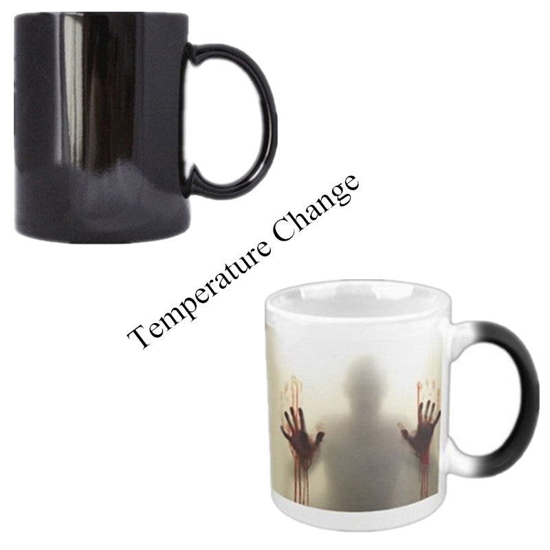 Walking Dead Color Changing Coffee350ml Bloody Hands Design Heat Sensitive Magic Coffee Gifts The