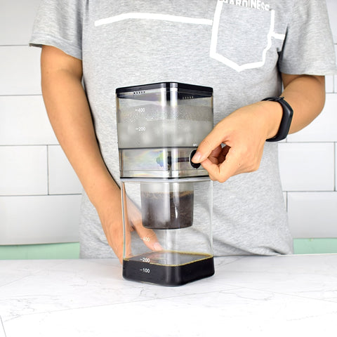 Water Drip Coffee Maker Coffee Dripper Pot Ice Cold Brew Coffee Machine household small drip cold