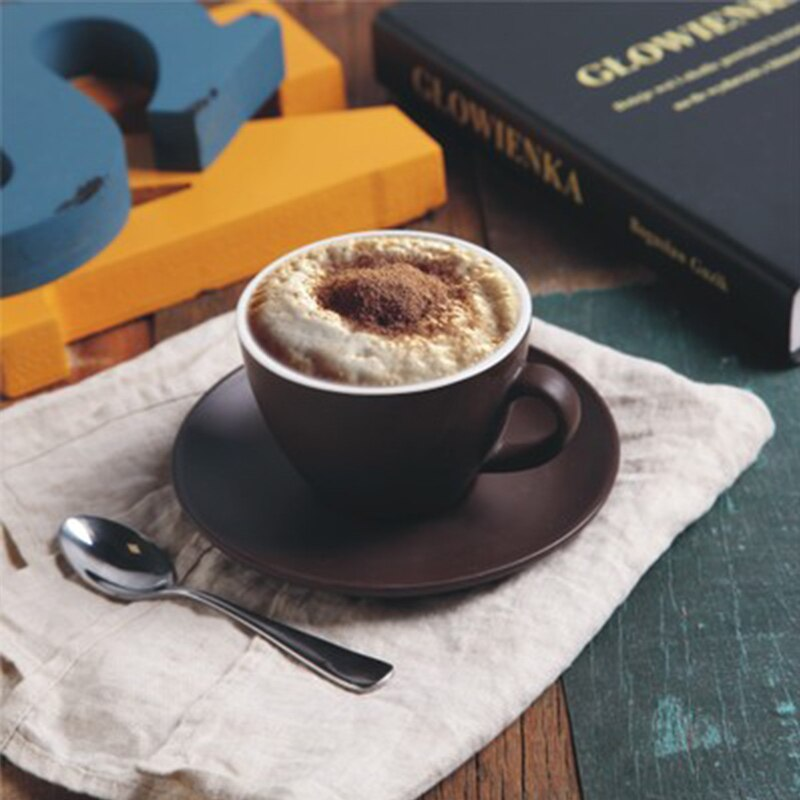 Wourmth 200ML European Style Bone China Coffee Cup and Saucer Set Creative  Ceramic Tea Cup  For