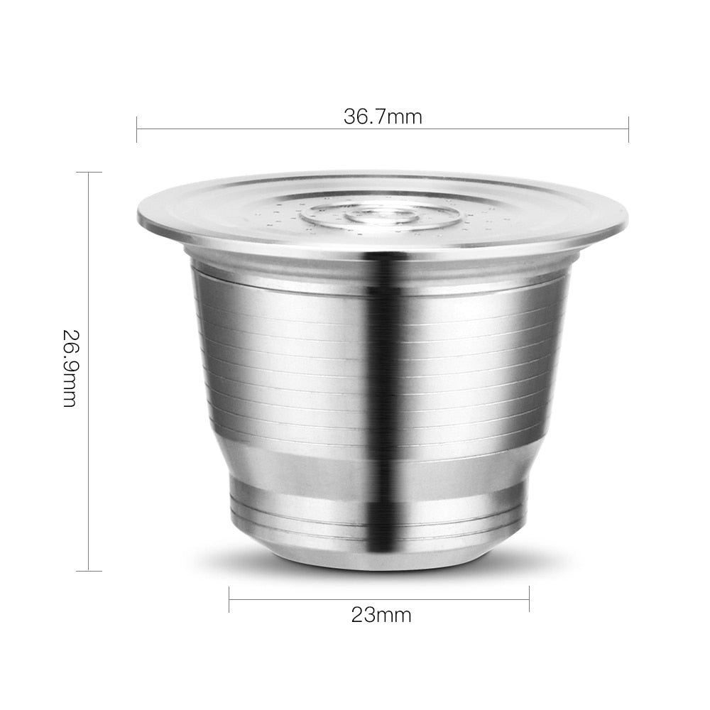 iCafilas Coffee Filters Capsule Pod For Nespresso Refillable Capsula Nescafe Stainless Steel Coffee Brackets Cup and Tamper