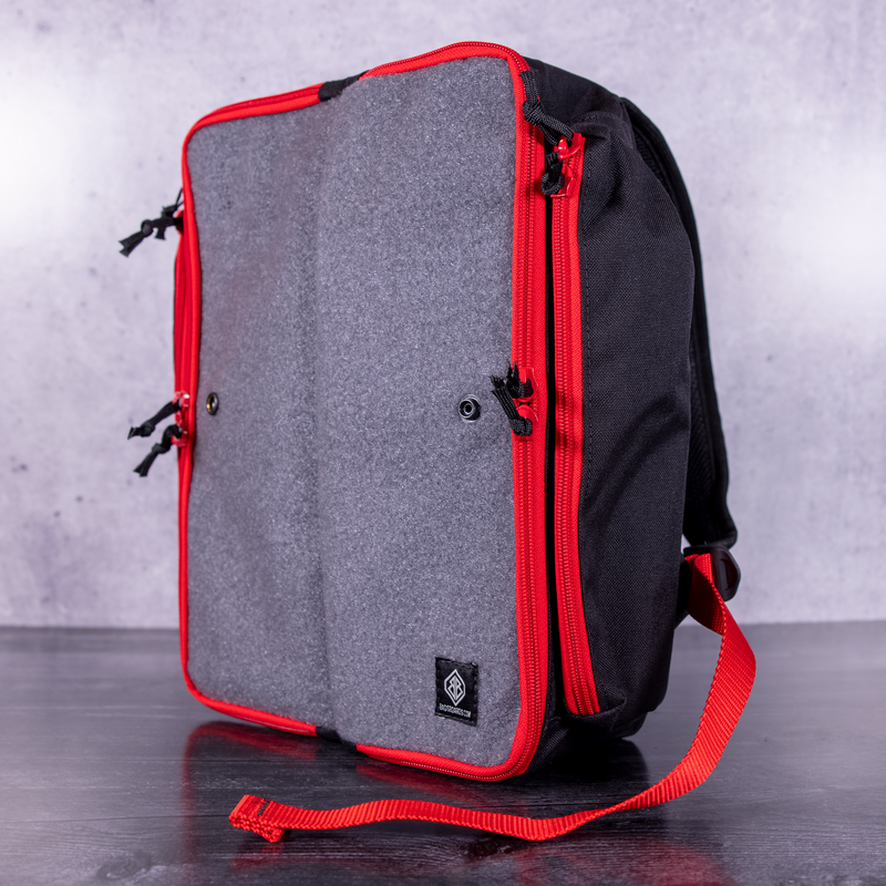 In-Stock Custom Backpack - Black | Grey | Red | Red
