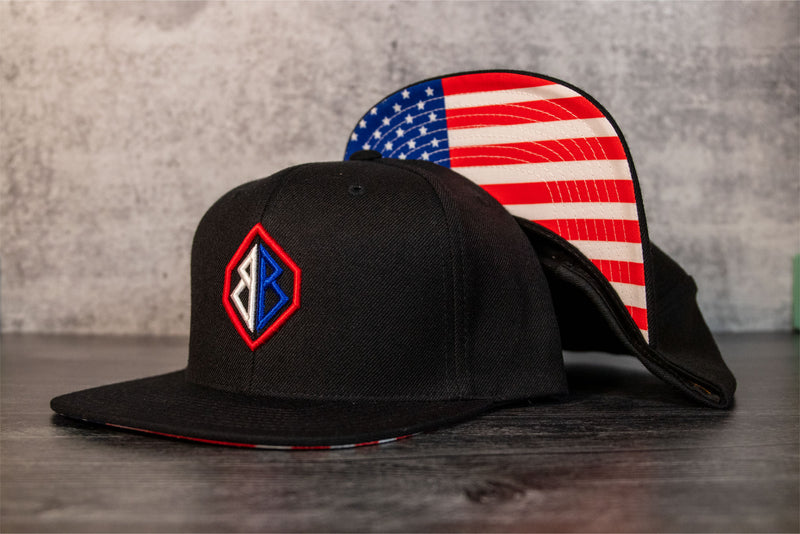 USA Red, White and Blue 3D Hat