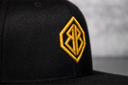 Black and Gold Metallic 3D Hat