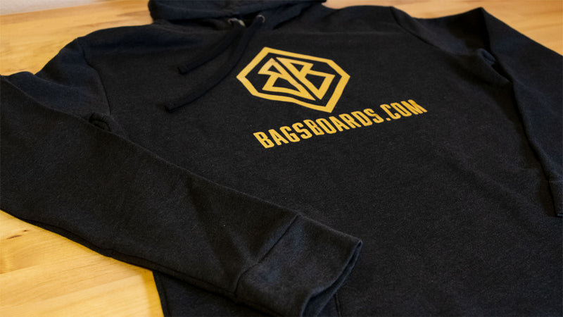 Black and Gold Bags Boards Hoodie (Metallic)