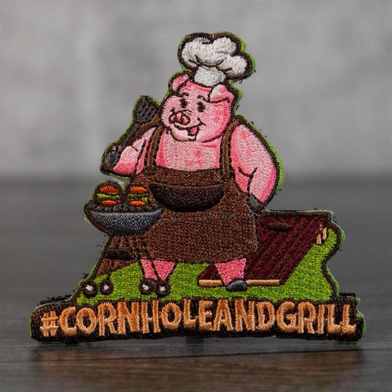 Cornhole and Grill Velcro Patch