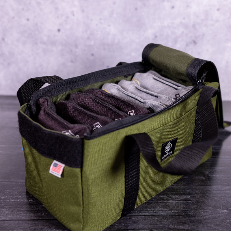 OD Green Mini Duff Cornhole Bags Carrying Case