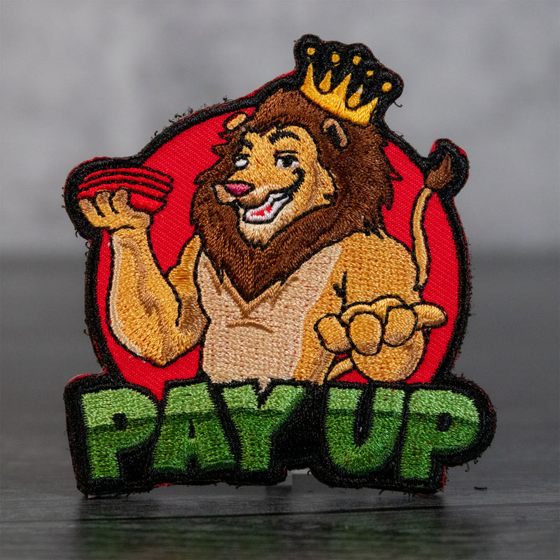 Pay Up Cornhole Velcro Patch