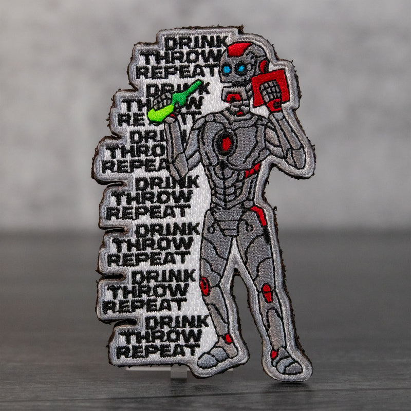 Robot Repeat Velcro Patch
