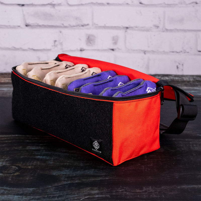 Single Orange Cornhole Bags Carrying Case