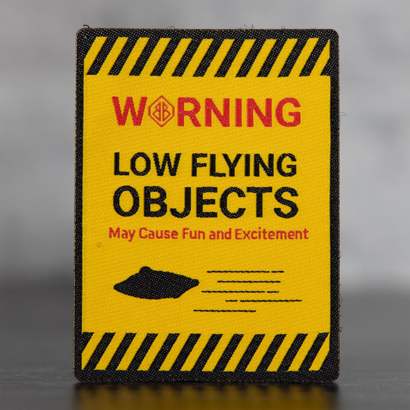Warning Low Flying Objects Velcro Patch