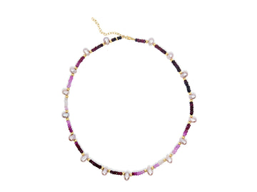 Arizona Ruby Pearl Necklace