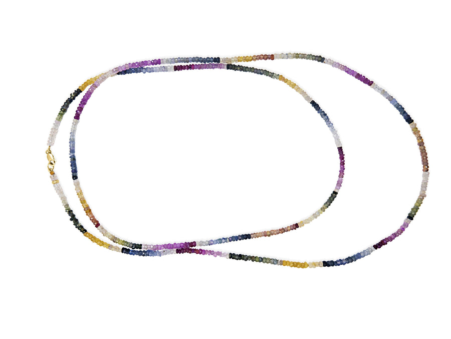 Arizona Light Rainbow Sapphire Long Necklace