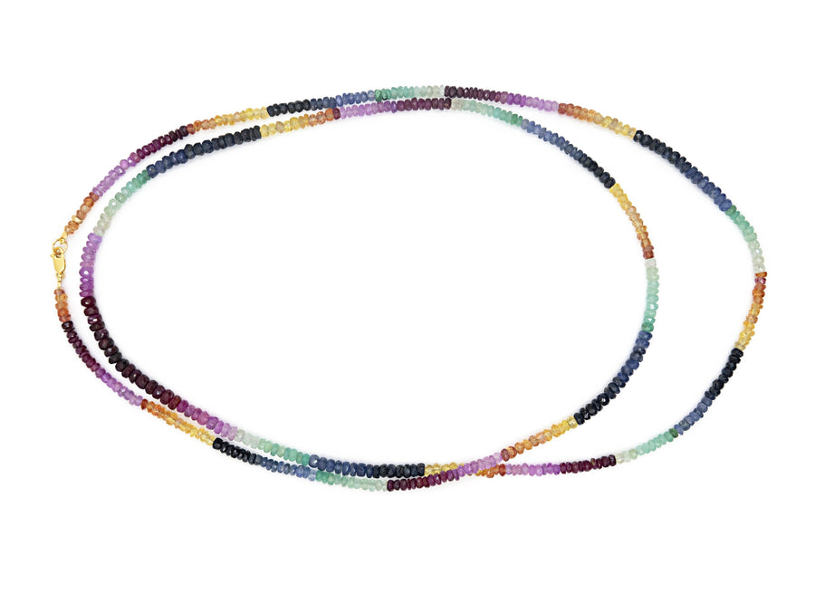 Arizona Rainbow Sapphire Long Necklace