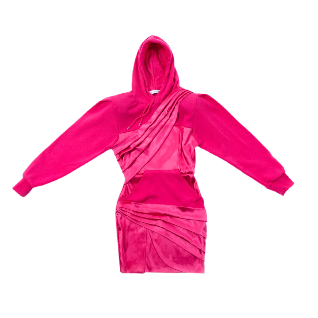HYBRID HODDIE DRESS WITH SPLIT