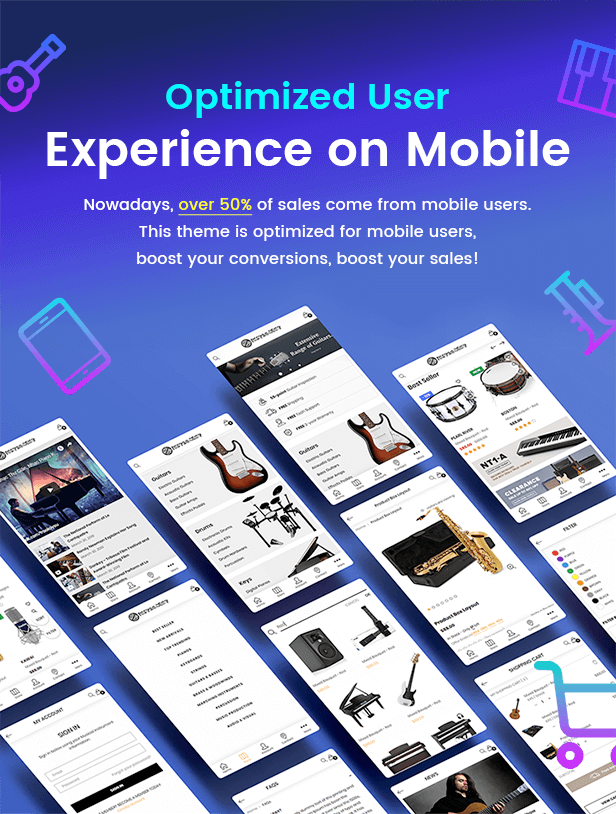 KalaMusic Mobile Responsive