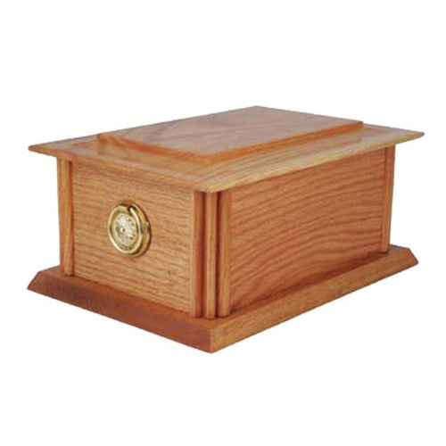 Solid Oak Urn