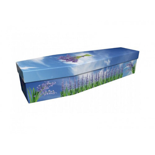 Bluebells & Clouds Cardboard Coffin