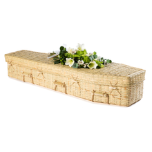 Load image into Gallery viewer, Traditional Eco Bamboo Coffin