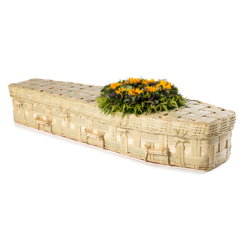 Traditional Lattice Bamboo Coffin
