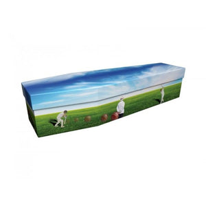Love of Cricket Cardboard Coffin