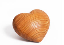 Load image into Gallery viewer, Heart Cherry Wood Keepsake/ Pet Urn