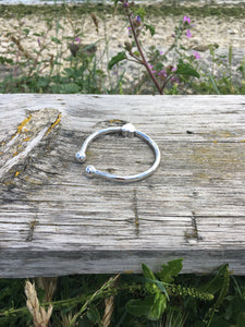 Sterling Silver Bangle for ashes