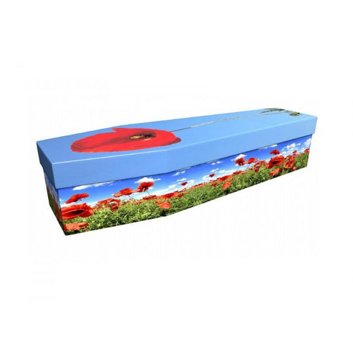 Poppy Cardboard Coffin