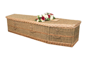 Natural Grass traditional willow coffins