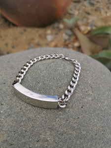Sterling Silver Remembrance ID Bracelet