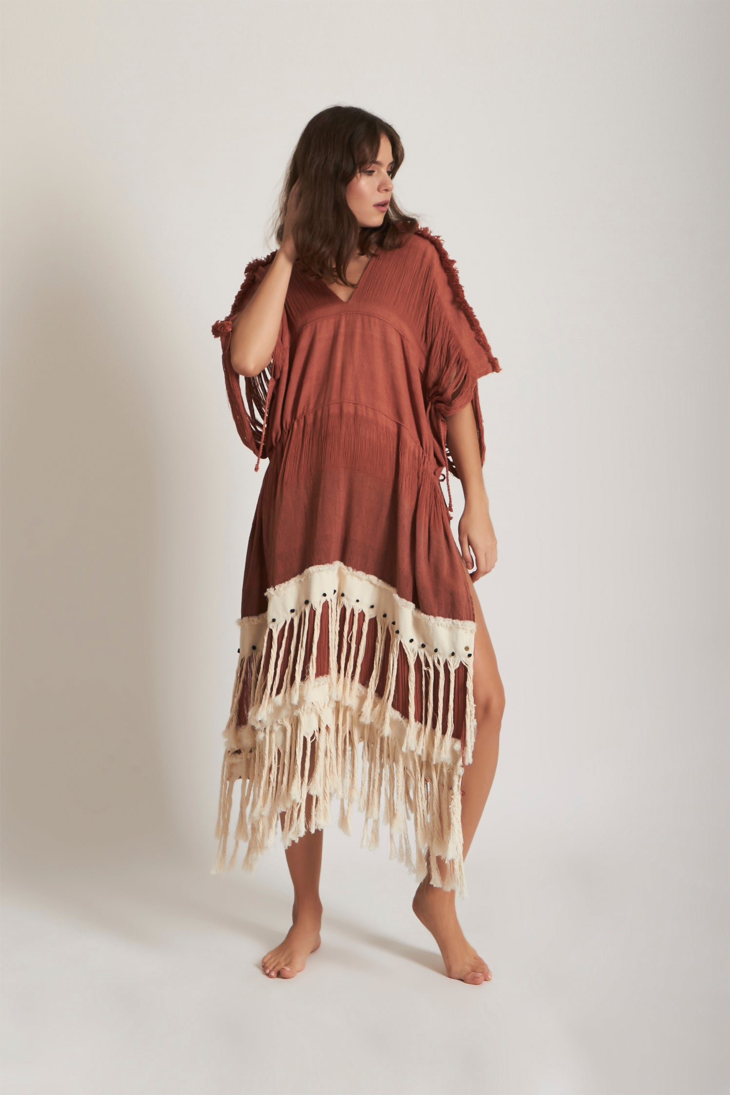 Maxi Dress Brown/Pink