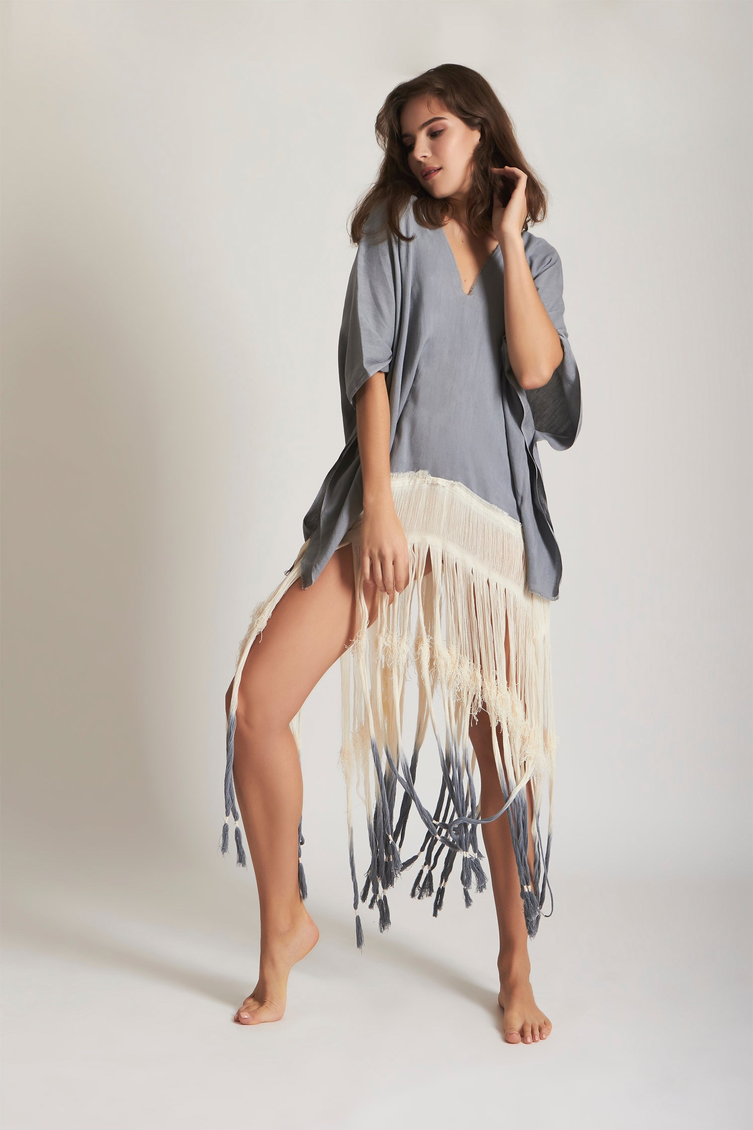 Tribe Blouse Gray