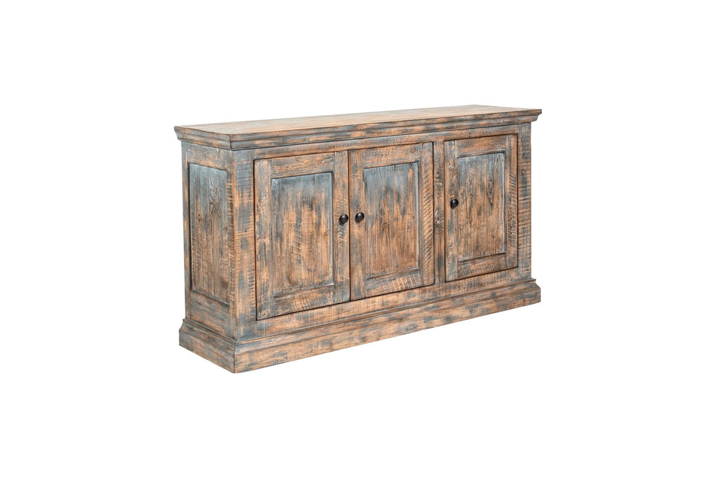 Mira 3-Door Sideboard - Antique Blue