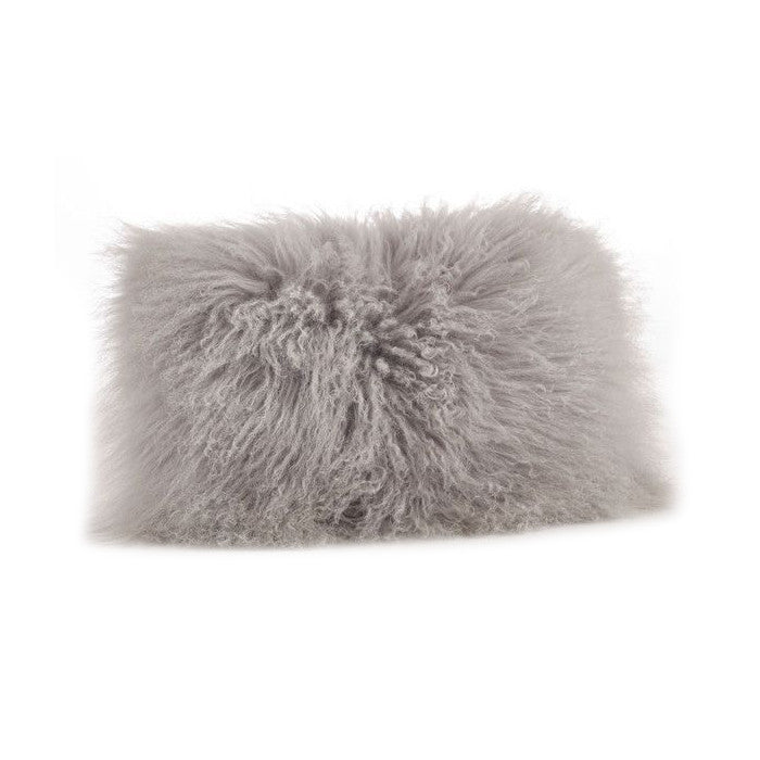 12x20 Lamb Fur Pillow - Fog