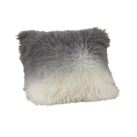 16x16 Lamb Fur Pillow - Slate