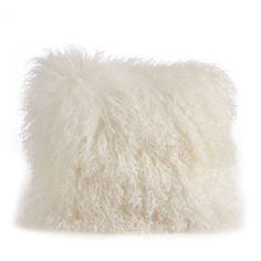 20x20 Lamb Fur Pillow - Ivory