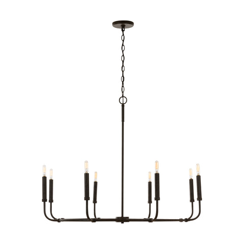 Zac 8-Light Chandelier - Brown
