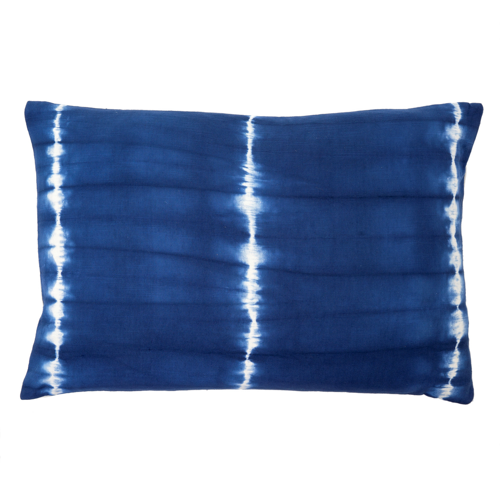 Shibori 16x24 Pillow - Indigo/White