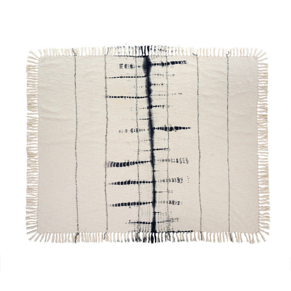 Shibori Fringe Throw