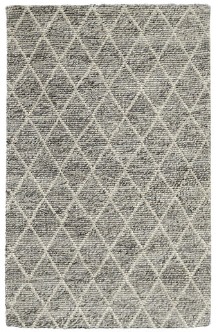 Diamond Looped Area Rug - Grey