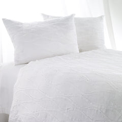 Fraying Duvet Cover- White
