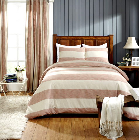 Hampton Duvet & Shams - Coral
