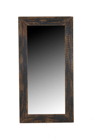 Antiqued Black Leaner Mirror