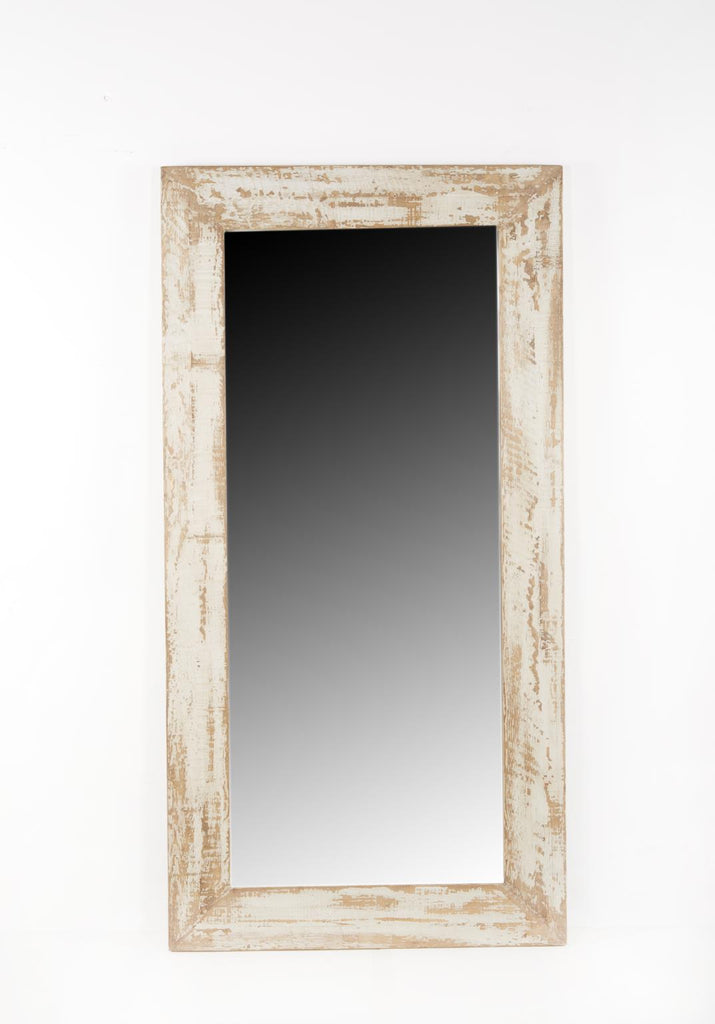 Antiqued Grey Leaner Mirror