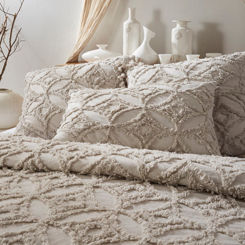 Madison Tufted Duvet & Shams - Natural