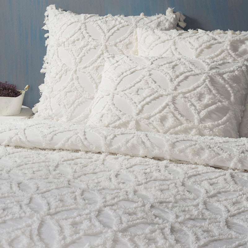 Madison Tufted Duvet & Shams - White