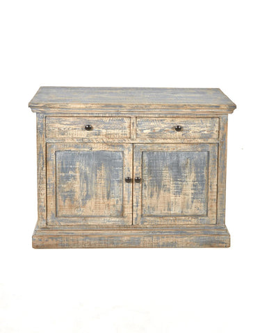 Mira Two-Door Cabinet - Antique Blue