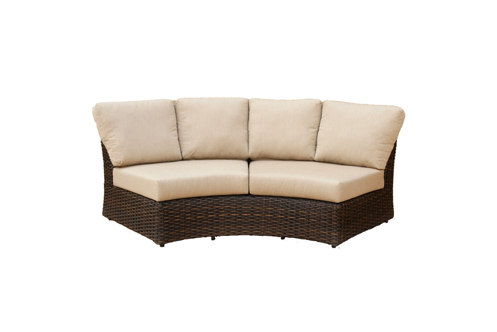 Portfino Armless Wedge Sofa - Espresso
