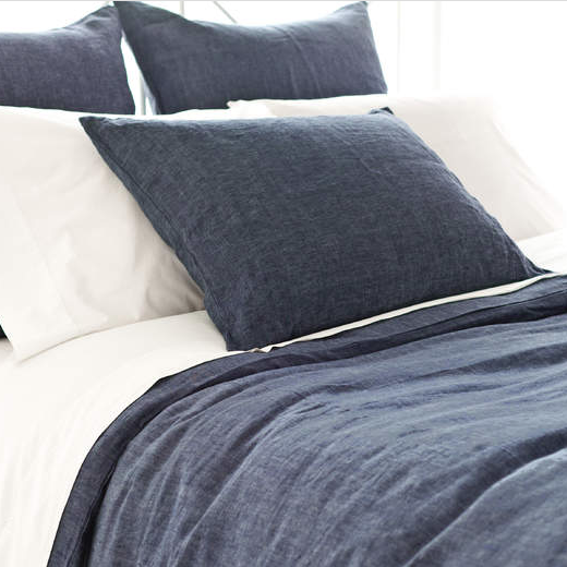 Chambray Linen Bedding Collection - Ink