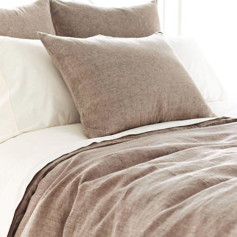 Chambray Linen Bedding Collection - Sable
